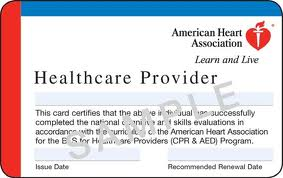 AHA Certification Card