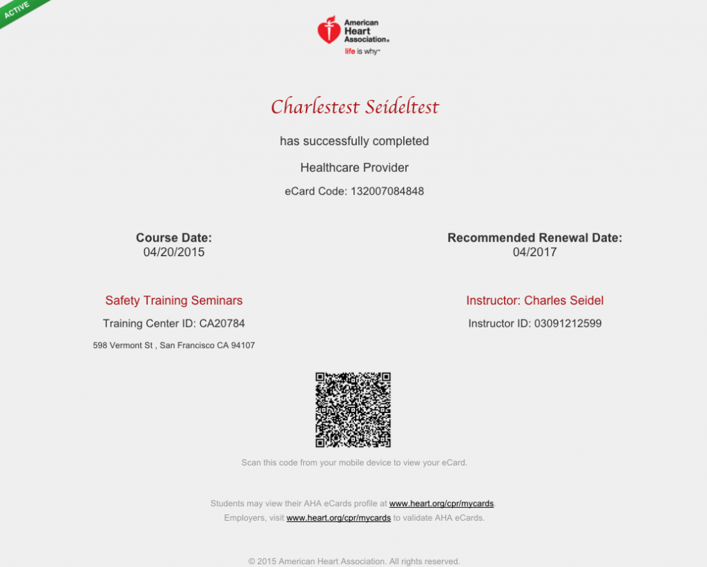 Sacramento American Heart Association Certification Courses